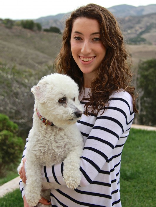 Hannah Grogin and her dog, Bianca